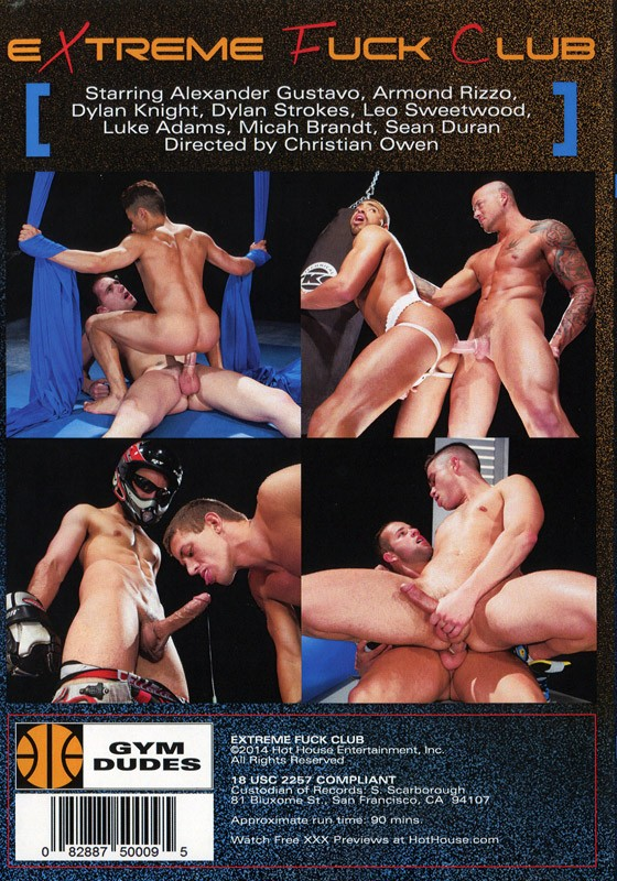 Extreme Fuck Club DVD - Back
