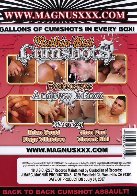 Nothin' But Cumshots DVD - Back