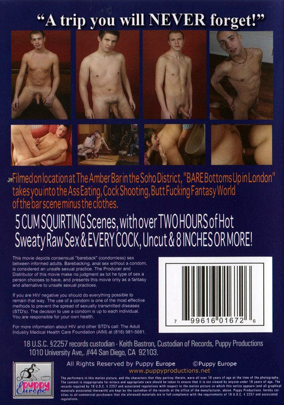 Bare Bottoms Up In London DVD - Back