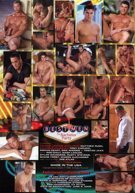 Best Men Part 1: The Bachelor Party DVD - Back