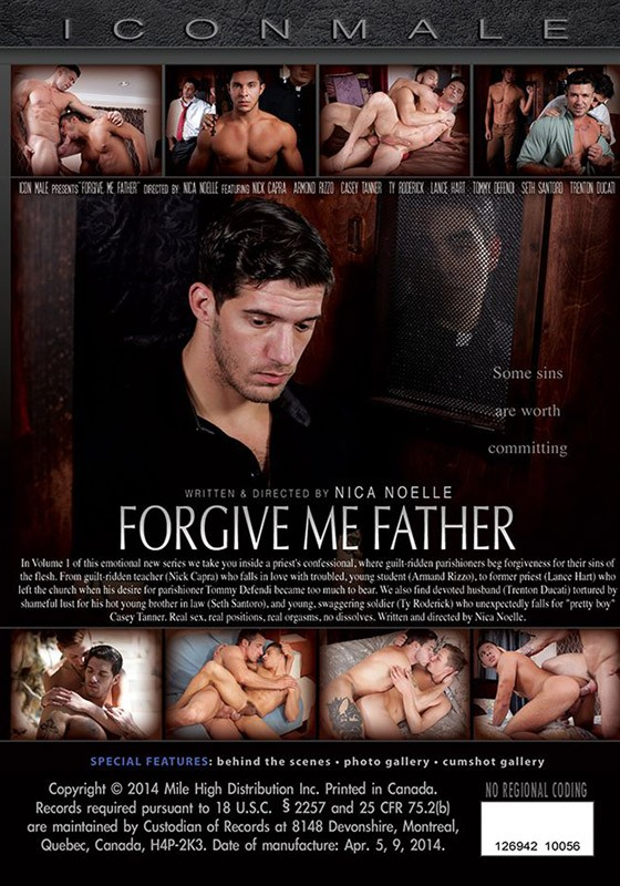 Forgive Me Father DVD - Back