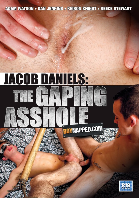 Boynapped 35: Jacob Daniels: The Gaping Ass Hole DVD - Front