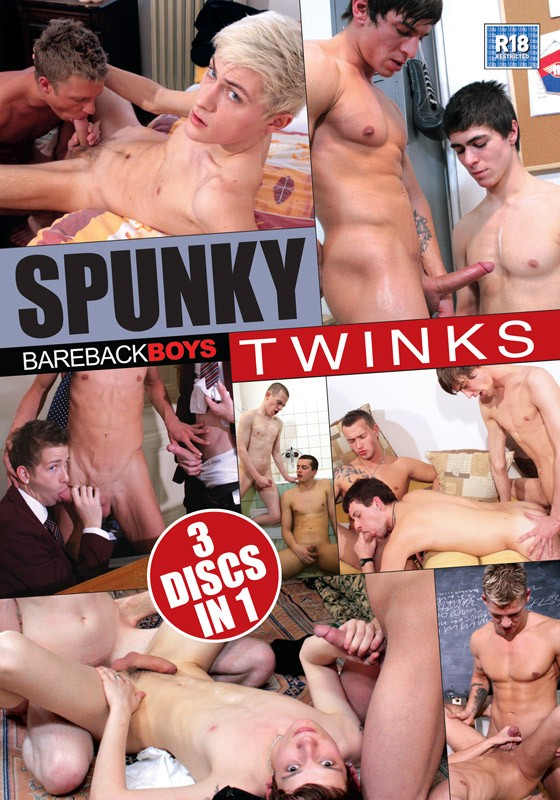 Spunky Twinks DVD - Front