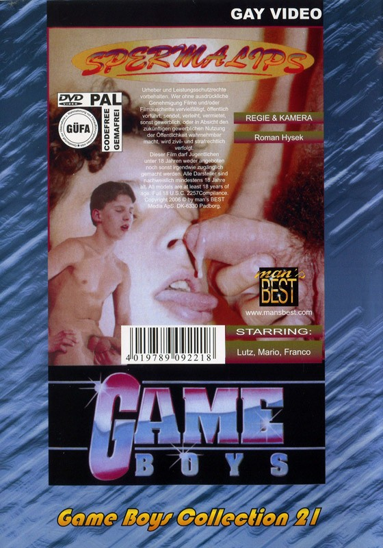 Game Boys Collection 21 - Badewannenspass + Sperma Lips DVD - Back