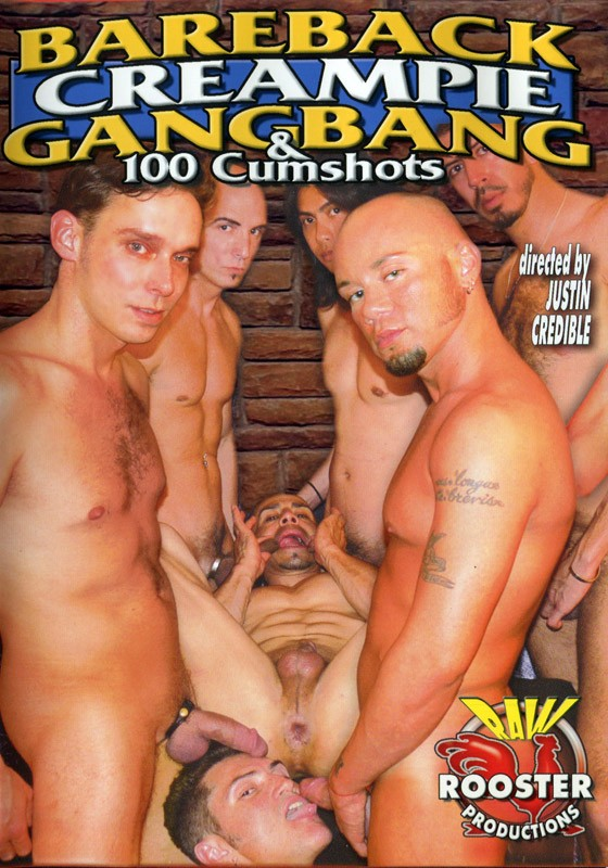 Bareback Creampie Gandbang & 100 Cumshots DVD - Front