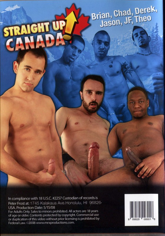 Straight up Canada DVD - Back