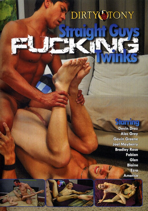 Straight Guys Fucking Twinks DVD - Front