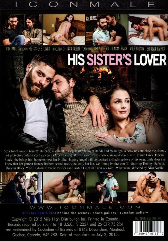 His Sister's Lover DVD - Back