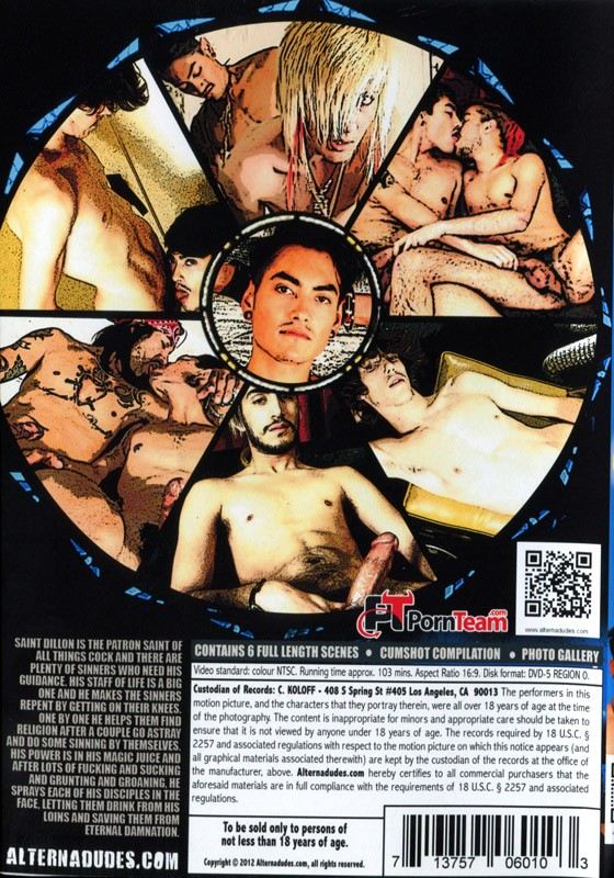 Sinners And Saint DVD - Back