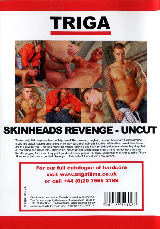 Skinheads Revenge Uncut Version DVD - Back