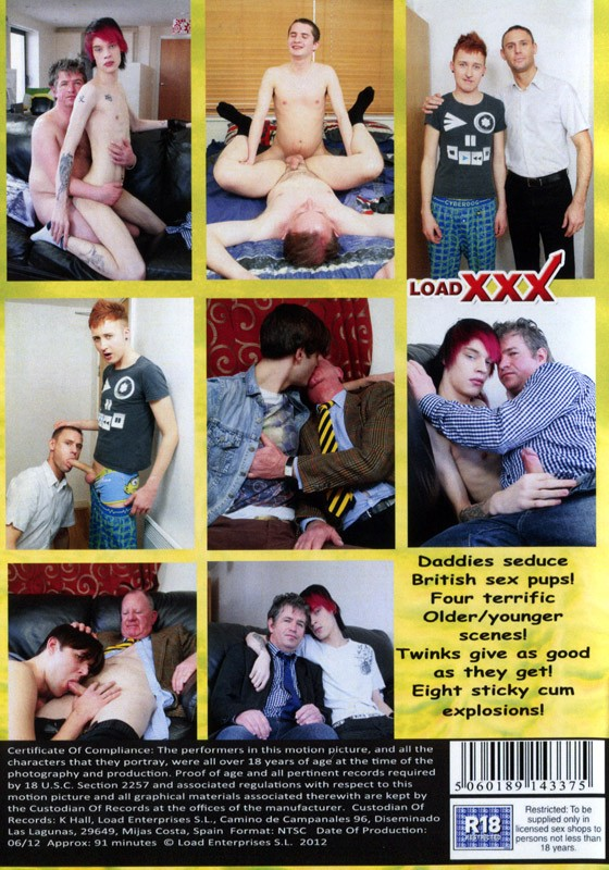 Older Men & Their Brit Twinks 8 DVD - Back