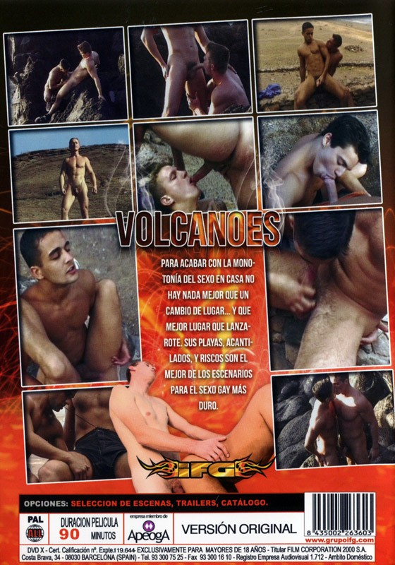 Volcanoes DVD - Back