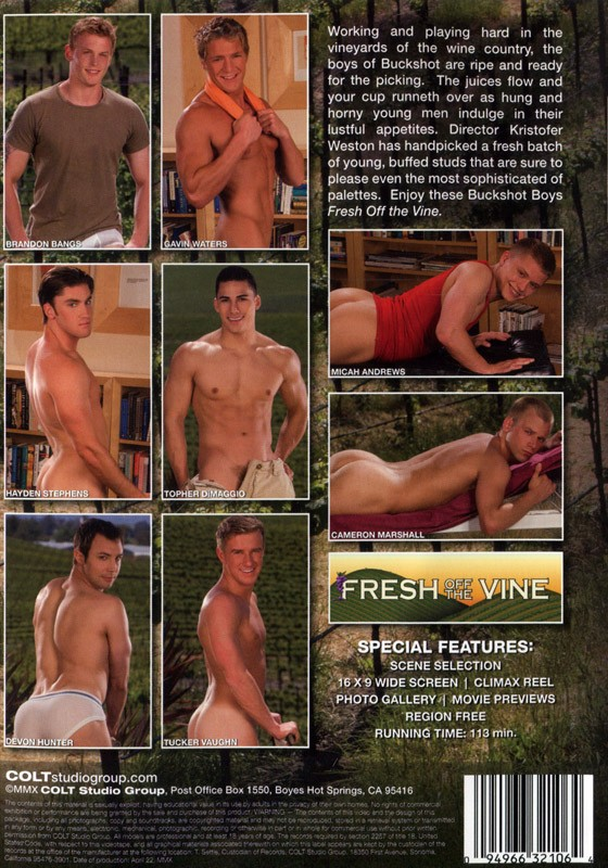 Fresh off the Vine DVD - Back