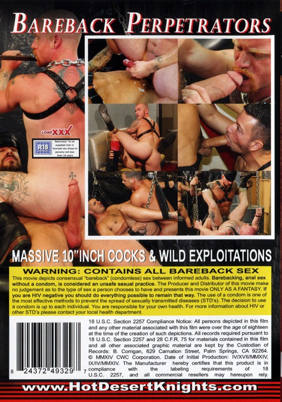 Bareback Perpetrators DVD - Back