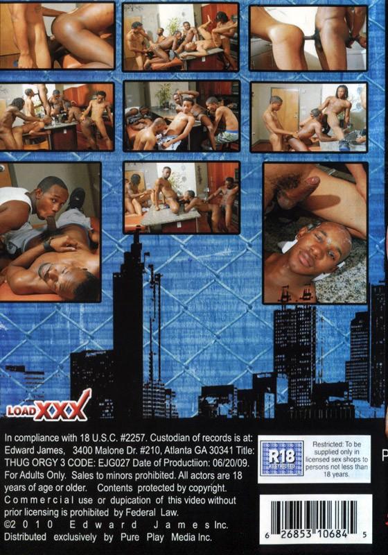 Thug Orgy 3 DVD - Back