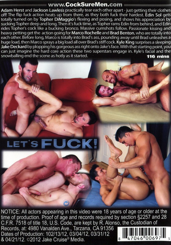 Let's Fuck! (Cocksure) DVD - Back