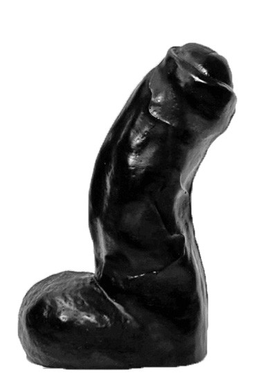 All Black AB03 Dildo - Front