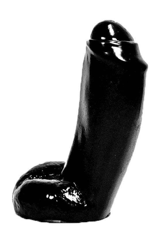 All Black AB46 Dildo - Front