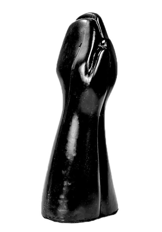 All Black AB59 Dildo - Front