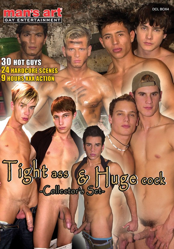 Tight Ass & Huge Cock Collector's Set DVD - Front