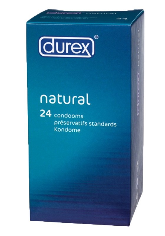 Durex Classic Natural (3 packages of 24 pieces) Condom - Front
