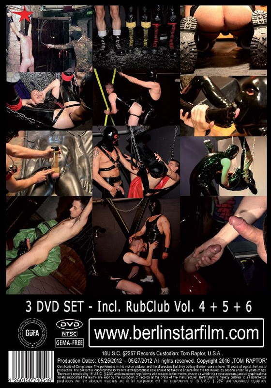 Rubclub Box 2 DVD - Back