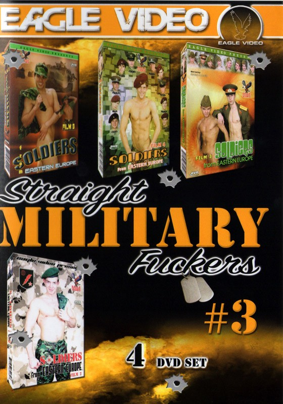 Straight Military Fuckers 3 DVD - Front