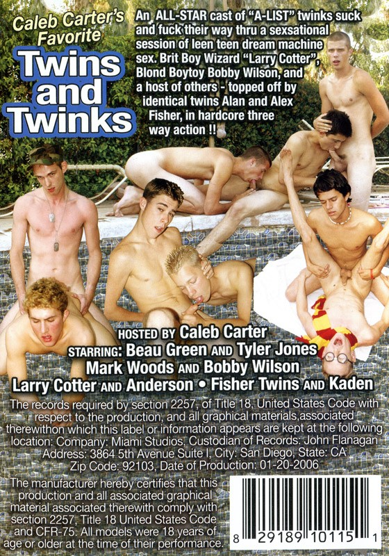 Caleb Carter's Favorite Twins And Twinks DVD - Back
