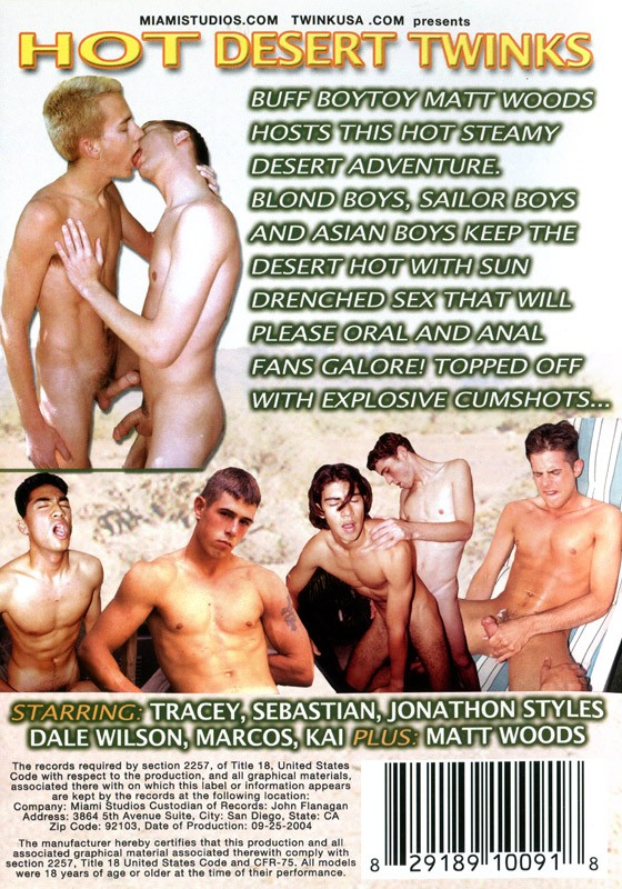 Hot Desert Twinks DVD - Back