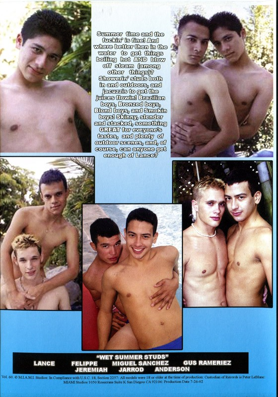 Wet Summer Studs DVD - Back
