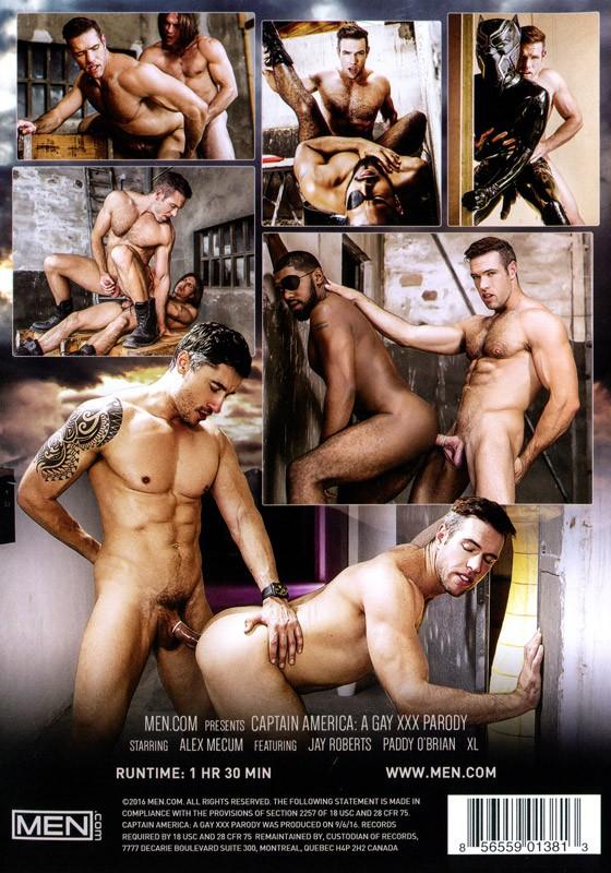 Captain America: A Gay XXX Parody DVD - Back