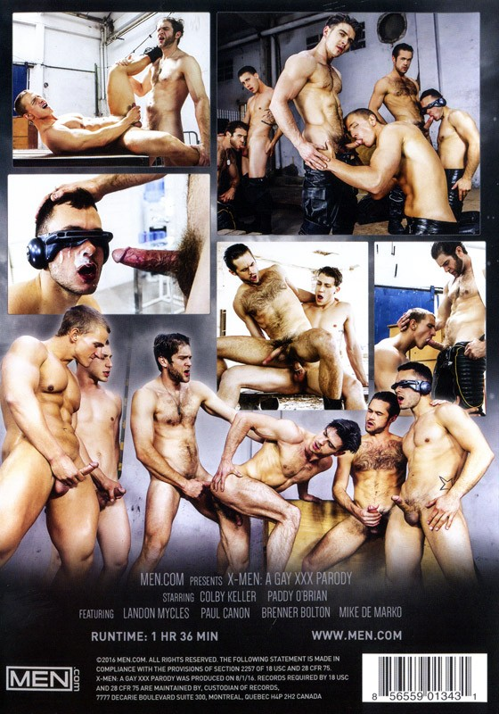 X-Men: A Gay XXX Parody DVD - Back