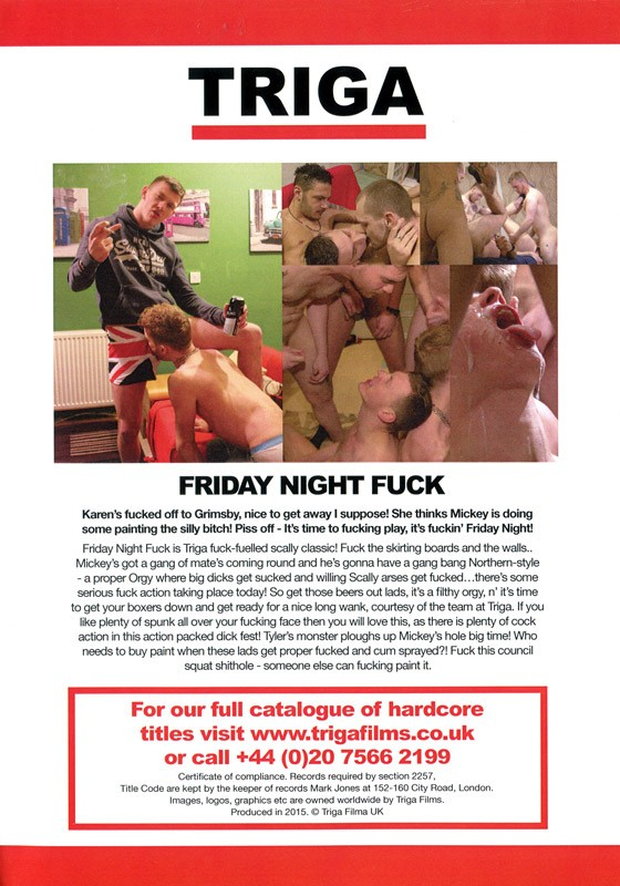 Friday Night Fuck DVD - Back