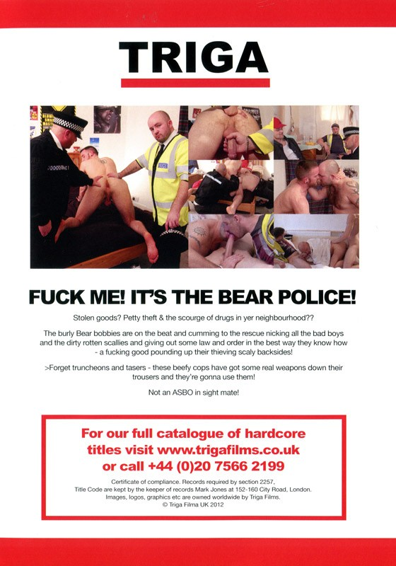 Fuck Me! It's The Bear Police! DVD - Back