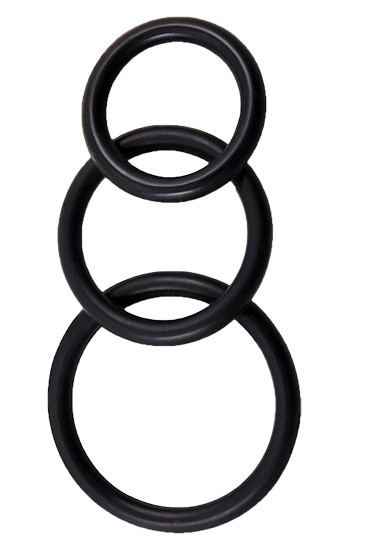 Perfect Fit Silicone 3 Ring Kit Mix - Black - Gallery - 001