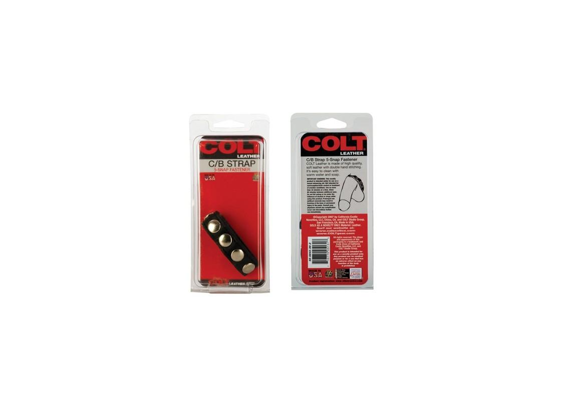 Colt Adjustable 5 Snap Leather Strap - Front