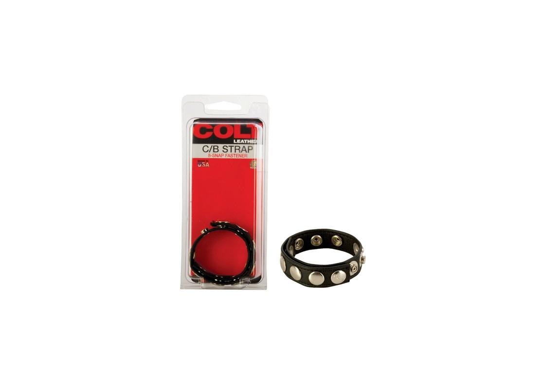 Colt 8 Snap Fastener Leather Strap - Front