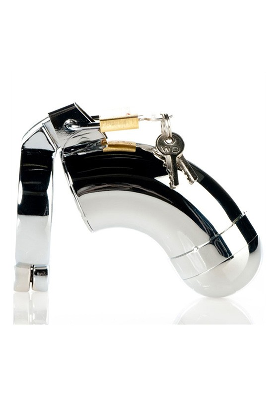 Male Chastity Device - Removable Cover - Stainless Steel - Front