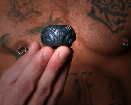 Tribal Son Ram Ring - Black - Gallery - 002