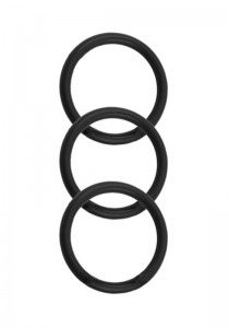 Silicone 3 Ring Kit- Black
