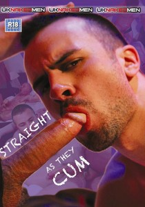 Straight As They Cum DVD - Front