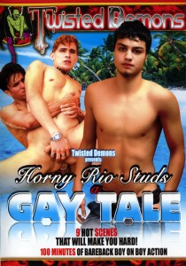 Horny Rio Studs a Gay Tale DVD - Front
