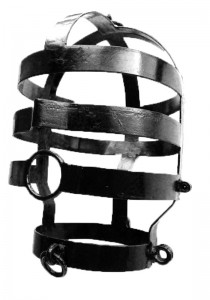 Head Cage, Large, Black Coated