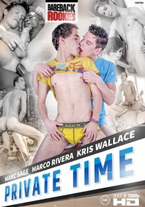 Private Time DVD (Bareback Rookies) - Front