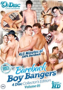 Bareback Boy Bangers Collector's Edition Volume 5 DVD - Front