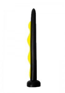 Wavemaker Dildo - Black & Yellow