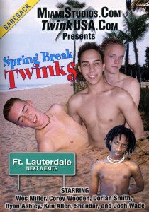 Spring Break Twinks DVD - Front