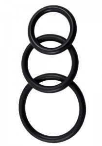 Perfect Fit Silicone 3 Ring Kit Mix - Black