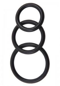 Silicone 3 Ring Kit Mix (M + L + XL) - Black
