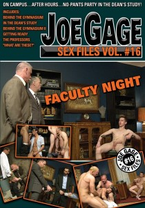 Joe Gage Sex Files vol. #16 Faculty Night DVD (S)